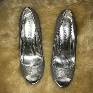 Rampage silver sparkle spike shoes